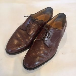 Bally Banbury Brown Wingtip Leather Oxfords